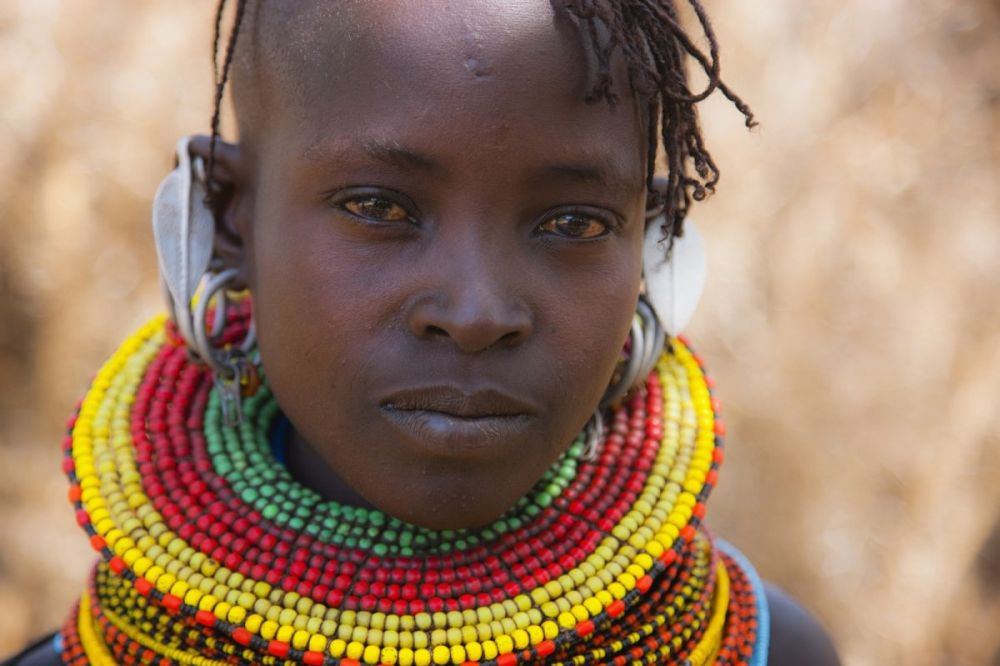Young girl of the Turkana tribe