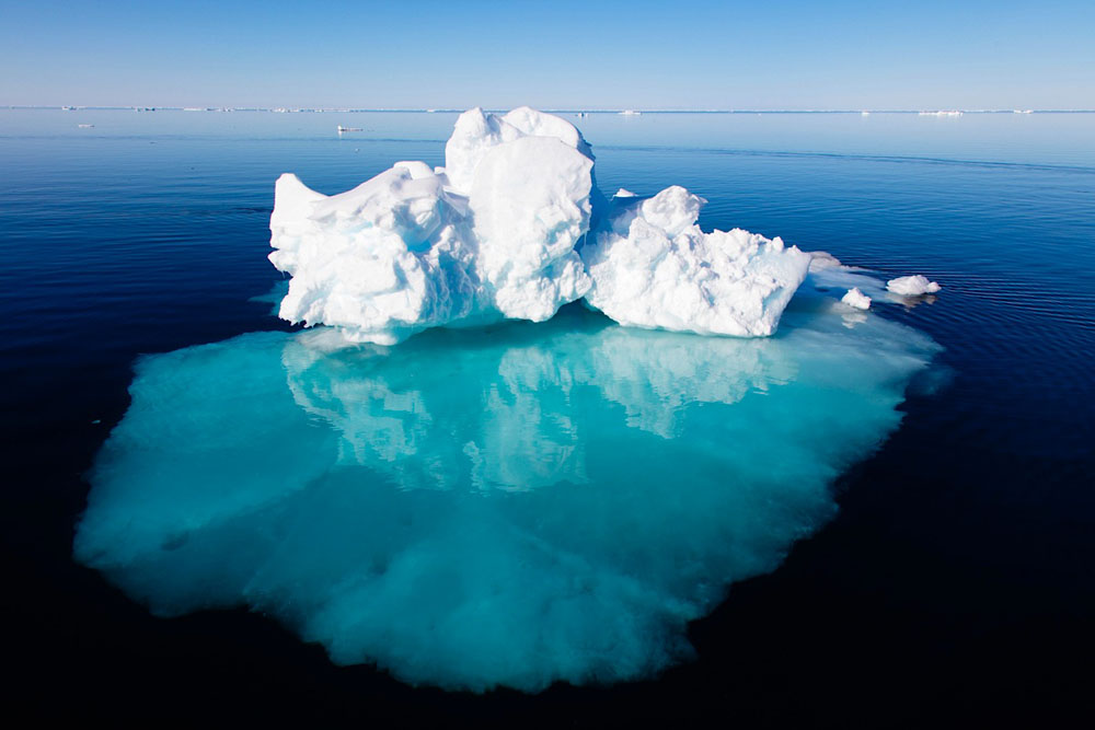 Iceberg in fjord