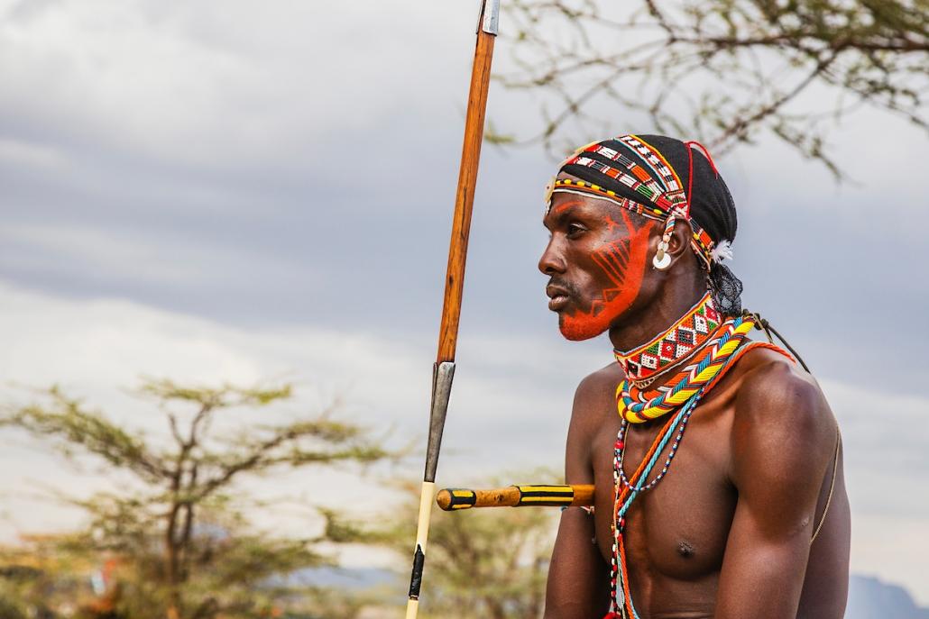 A Samburu warrior