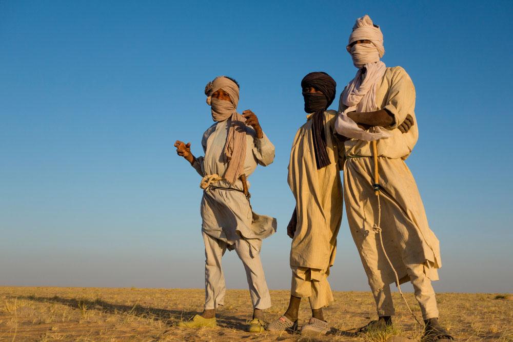 Chadian boys posing