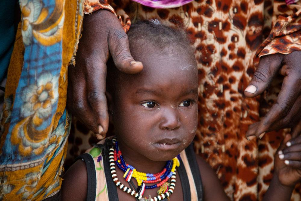 Portrait of portrait of young Chadian boy