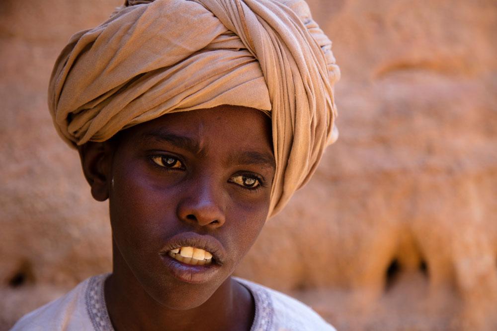 Portrait of Chadian boy